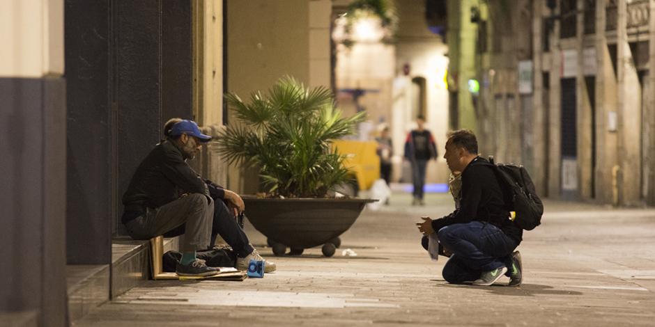 La vulnerabilidad de las personas que viven en la calle en Barcelona