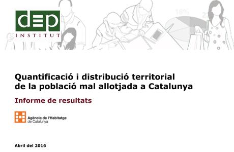 Població mal allotjada a Catalunya 2016