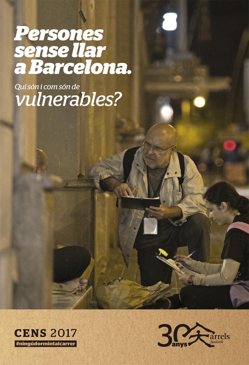 Cens de persones que viuen al carrer a Barcelona 2017