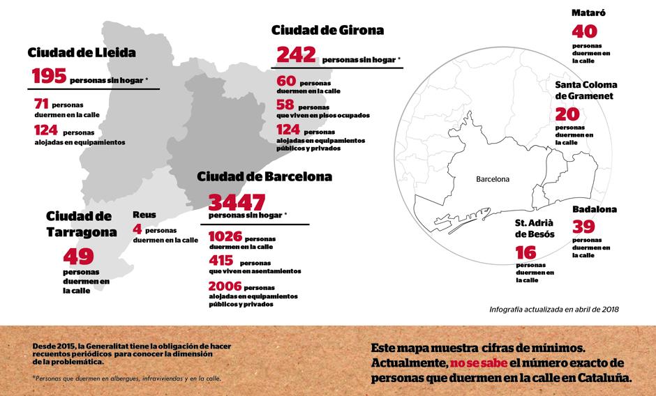En mayo, cinco municipios catalanes organizan recuentos en la calle