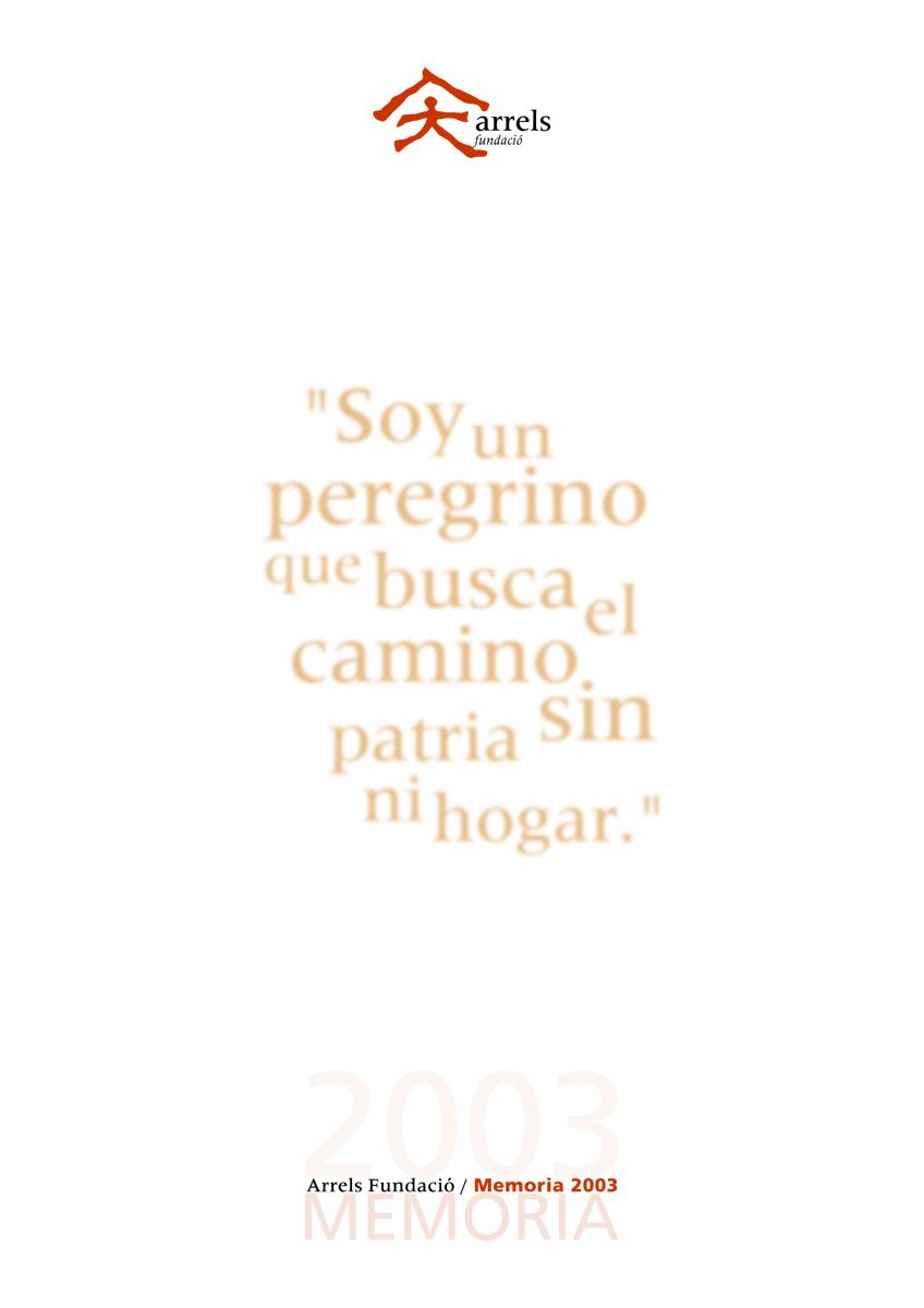 Memoria de Arrels 2003