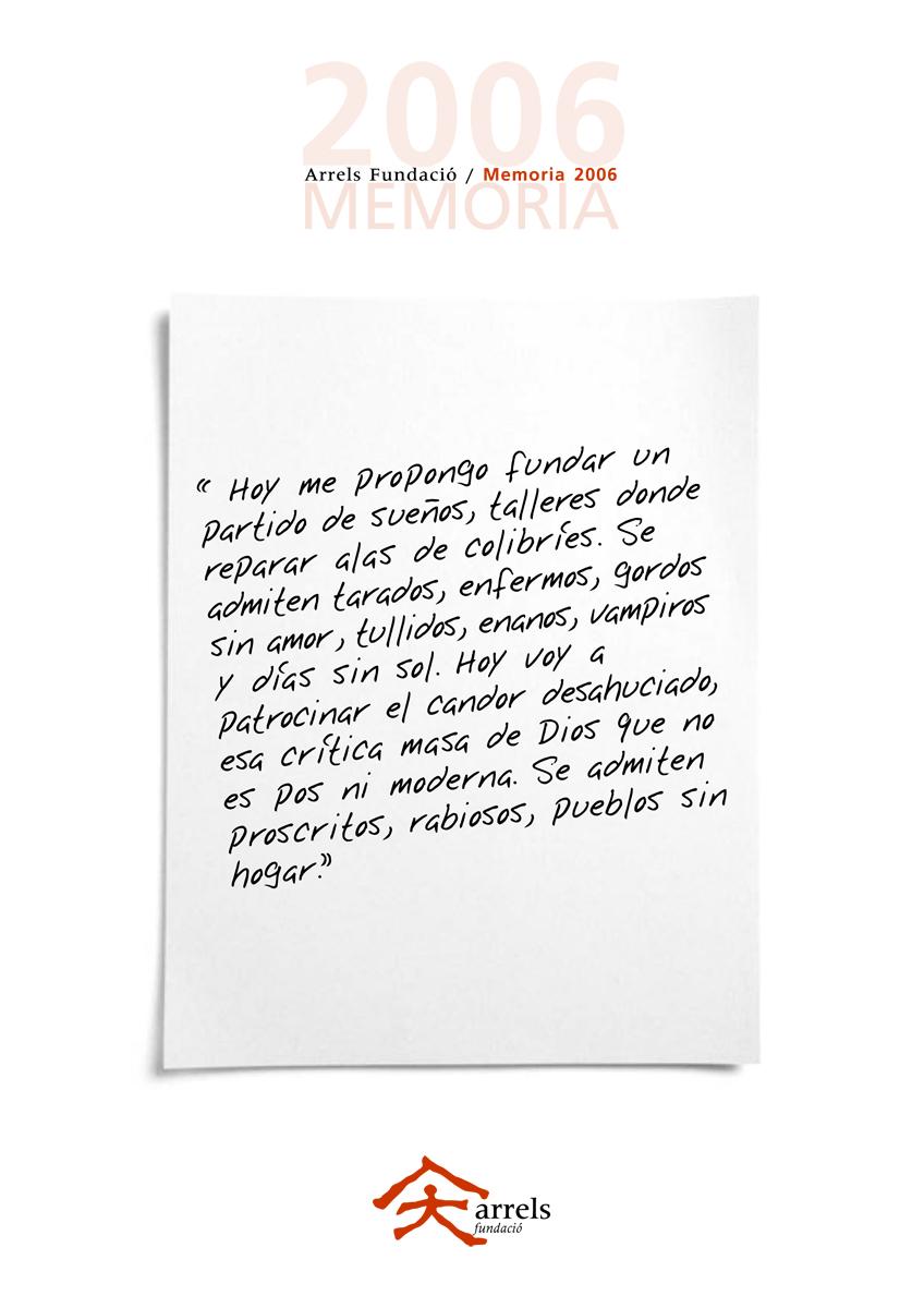 Memoria de Arrels 2006