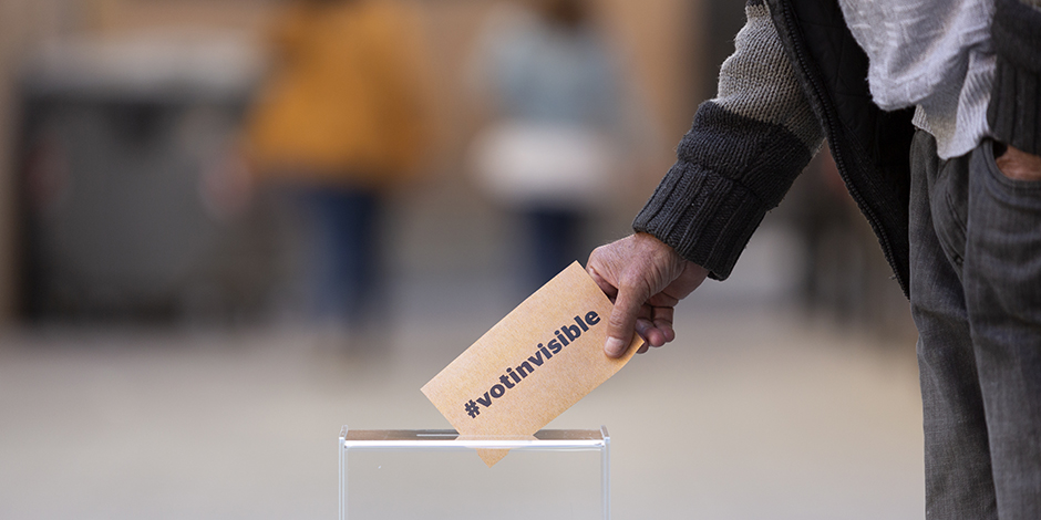 Suma't al #votinvisible per donar veu a les persones sense llar