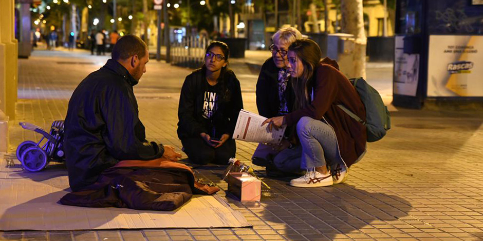 The homeless in Barcelona have spent an average of almost 4 years living on the street