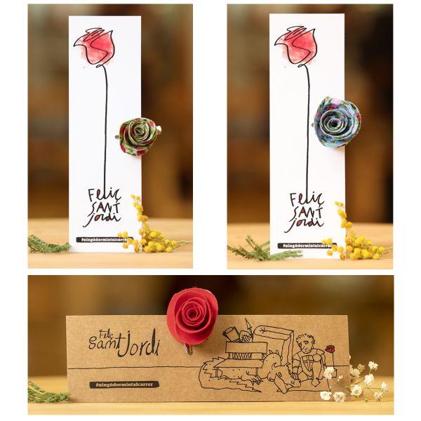 roses tela variades sant jordi arrels fundació botiga fet a mà