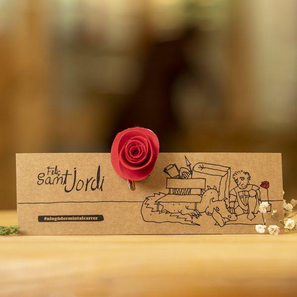 punt llibre rosa vermella cavaller sant jordi arrels fet a mà botiga