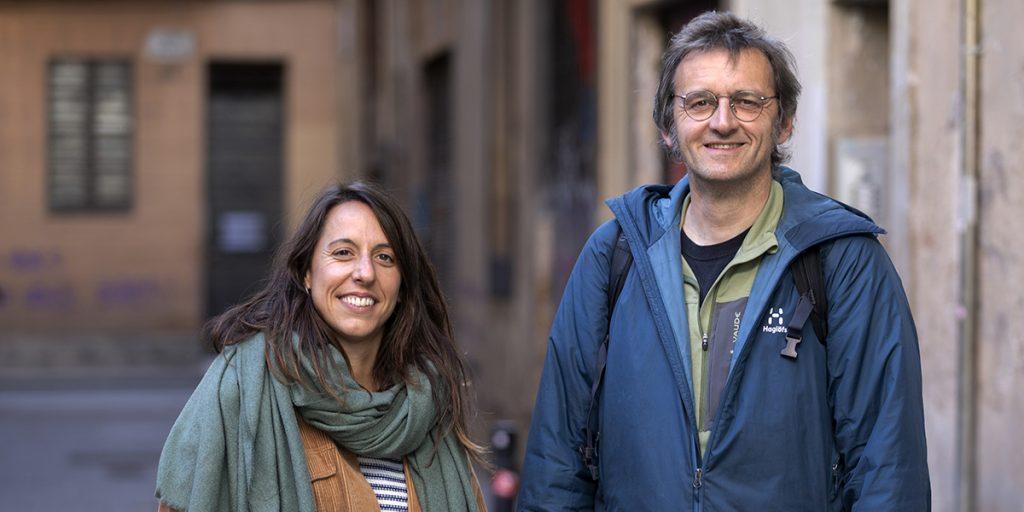 Bob Walker i Gemma Gassó, educadors de carrer d'Arrels