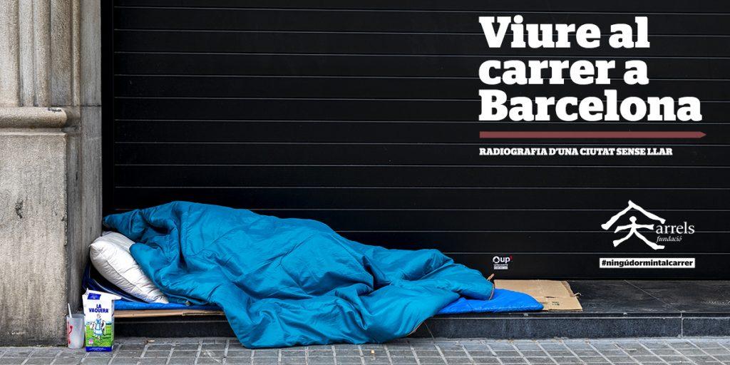 Portada de l'informe Viure al Carrer a Barcelona
