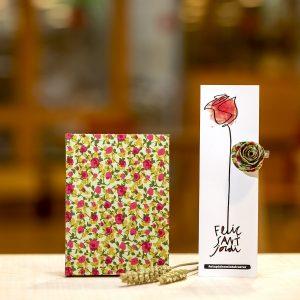 sant jordi rosa punt de llibre botiga arrels fundació llibreta