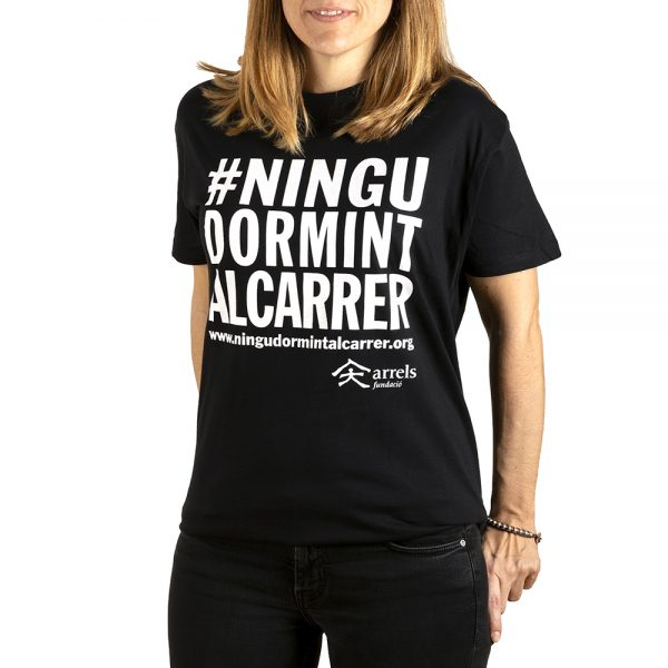 Unisex black t-shirt #ningúdormintalcarrer