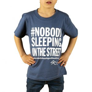 Childrens t-shirt #nobodysleepingonthestreet