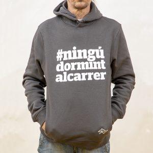 Unisex grey hoodie #ningúdormintalcarrer