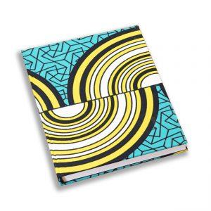 Libreta con tela estampada africana