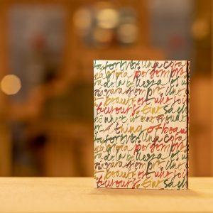Llibreta folrada paper paraules